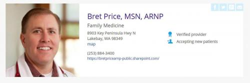 Bret Price ARNP